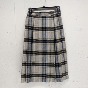 Vintage wrap wool midi skirt